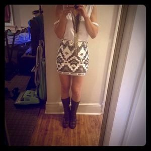 Tribal Sequin Design Skirt